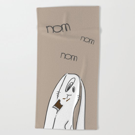 Nom, nom, nom #2 Beach Towel
