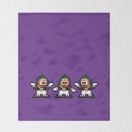 Pixelly Wonka Throw Blanket