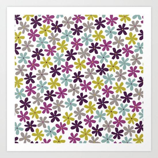 Allium Ditsy Art Print