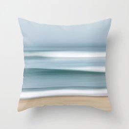 Fog Waves Throw Pillow