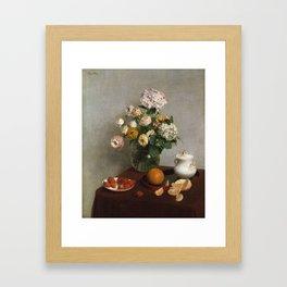 Henri Fantin Latour - Flowers And Fruit Framed Art Print