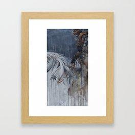 Storm Weathered Warrior  Framed Art Print