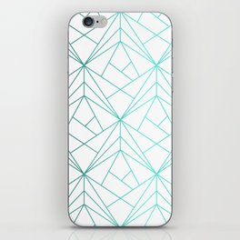 Geometric Turquoise Pattern iPhone Skin