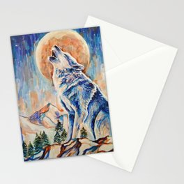 Wolf Lobo Stationery Cards