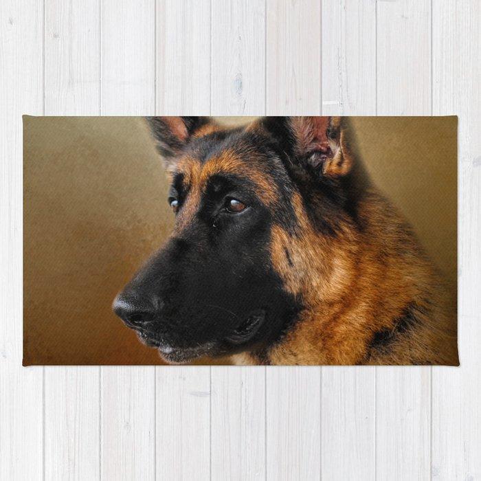 Dog Chewed Up Rug: Best In Show - German Shepherd Rug By Jaijohnson