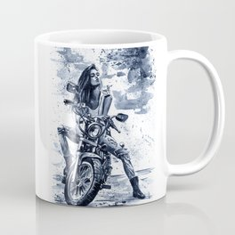 Biker Girl Coffee Mug