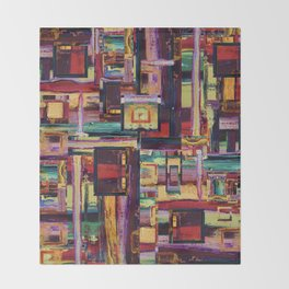Windows to Red Planet Throw Blanket