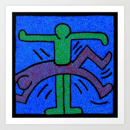 Keith Haring Humans Art Print