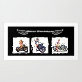 Biker Nostalgia Art Print