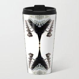 Lamp Posts Shadow Illusion Metal Travel Mug
