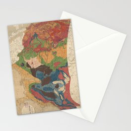 Vintage United States Geological Map (1872) Stationery Cards