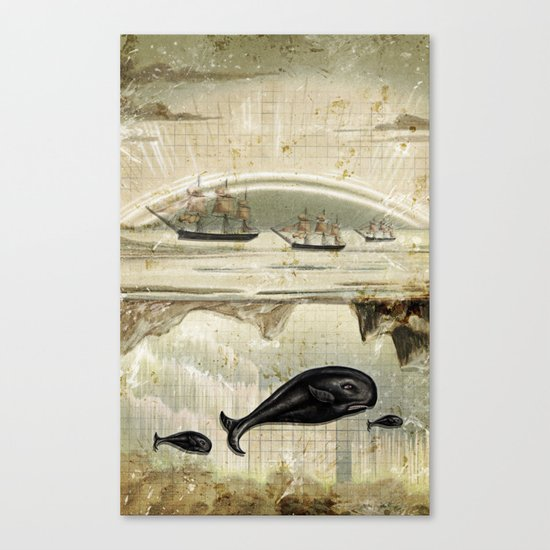 paper II :: whales/ships Canvas Print