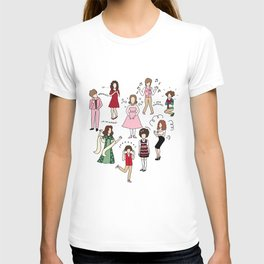 Kristen Wiig Characters T-shirt