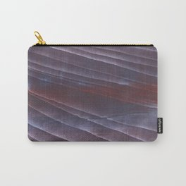 Dark purple striped wash drawing Carry-All Pouch