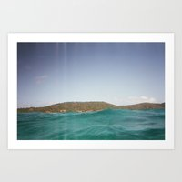 swimming Art Prints featuring swimming by Ashley Miller-Shaked