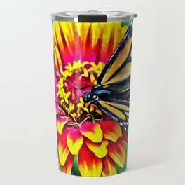 Monarch Butterfly Macro Travel Mug