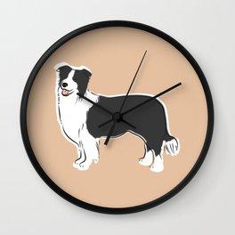 Border Collie Wall Clock