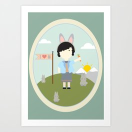 I heart bunnies Art Print