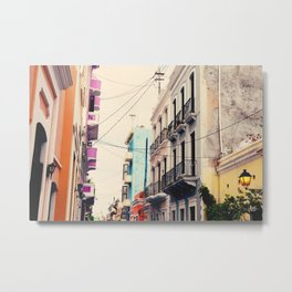 Colorful Buildings of Old San Juan, Puerto Rico Metal Print