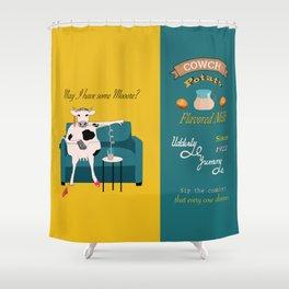 Cowch Potato flavored milk Shower Curtain