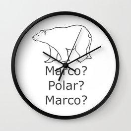 Marco Polar Bear White Sea Bear Marco Polo Wall Clock