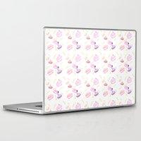 macaroon Laptop & iPad Skins featuring Macaroon Delight Pattern by kitelin