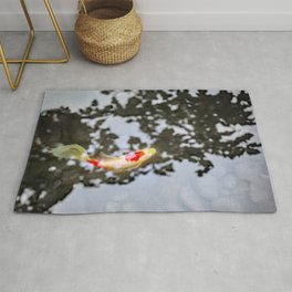Koi in Japanese Maple Shadows Rug