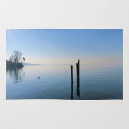 peaceful lake scene Rug