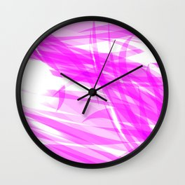 Pink and smooth sparkling lines of crimson ribbons on the theme of space and abstraction. Wall Clock