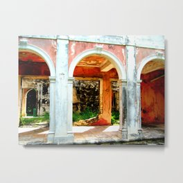 Haunted Harbour Island House Metal Print