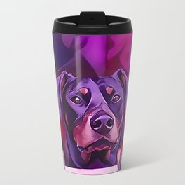 Doberman Looking Out The Window Travel Mug
