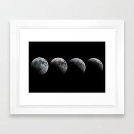 Lunar Eclipse on the Winter Solstice Framed Art Print