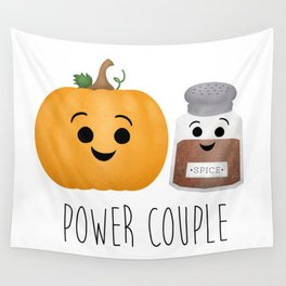 Pumpkin + Spice = Power Couple Wall Tapestry