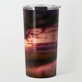 Another place at sunset Travel Mug