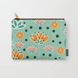 Summer flowers in mint Carry-All Pouch