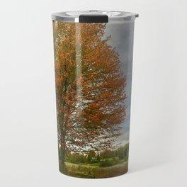 Maple trees and a Dairy barn Travel Mug