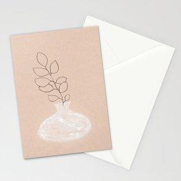 Pastel tone boho vase Stationery Cards