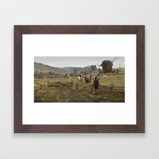 1920 - don't play with the strangers Framed Art Print