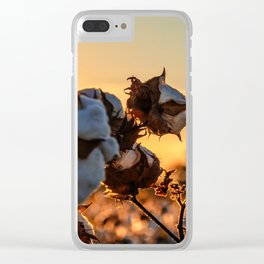 Cotton Field 12 Clear iPhone Case