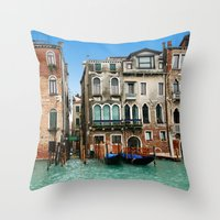 venice Throw Pillows featuring Venice by Shannon McCullough-Wight