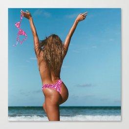 Free the Nipple   Pink Canvas Print