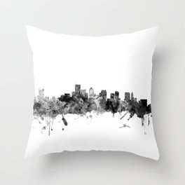 BostonSkyline Massachusetts Throw Pillow