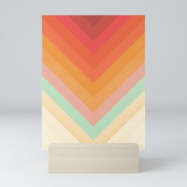 Rainbow Chevrons Mini Art Print