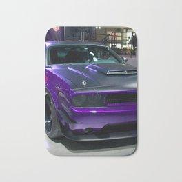 Purple Challenger Hellcat Demon color photograph / photography / poster Bath Mat