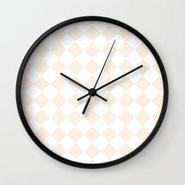 Diamonds - White and Linen Wall Clock