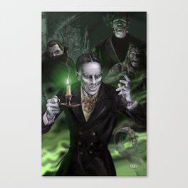 """Zacherley """"The Cool Ghoul"""" Canvas Print"""