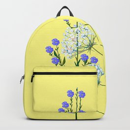 My Kentucky Wild Flowers, Queen Anne Lace and Flax Backpack