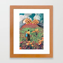 Neat Knitting Framed Art Print