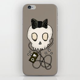 Girly Skull with Black Bow / Die for Music iPhone Skin