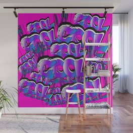 Cool Graffiti Typography Lettering Art / GFTTypography007 Wall Mural